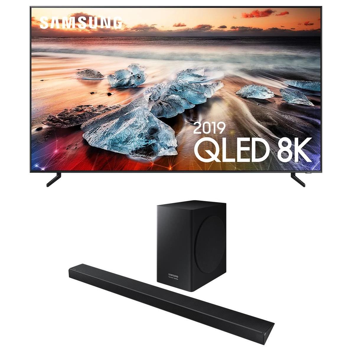 """TV QLED 55"""" Samsung QE55Q950R 2019 (QLED, 8K, Q HDR 3000, 100 Hz, 4300 PQI, Smart TV) + Barre de son HW-Q60R/ZF (Via ODR de 1000€ + 200€)"""