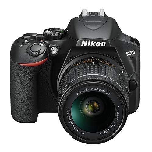 Kit Reflex numérique Nikon D3500 + Objectif zoom AF-P DX 18-55 f/3.5-5.G VR Noir - 24 Mp, Capteur APS-C