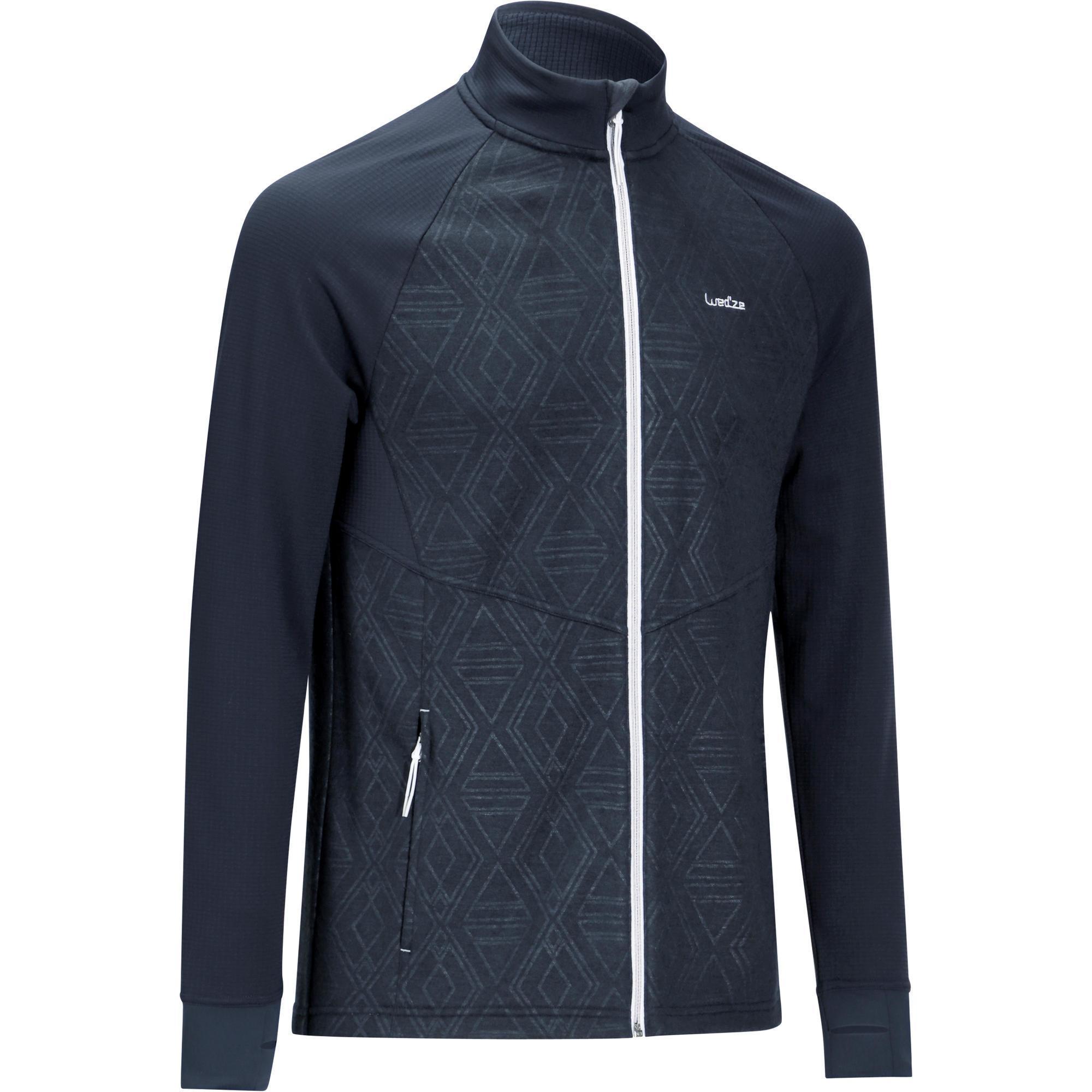 Sous-veste de ski Wedze 500 - Laine, Bleue