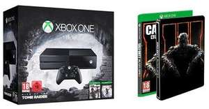 Pack Xbox One 1To + Rise of the Tomb Raider & Tomb Raider Definitive Edition + Call of Duty Black Ops III + Steelbook