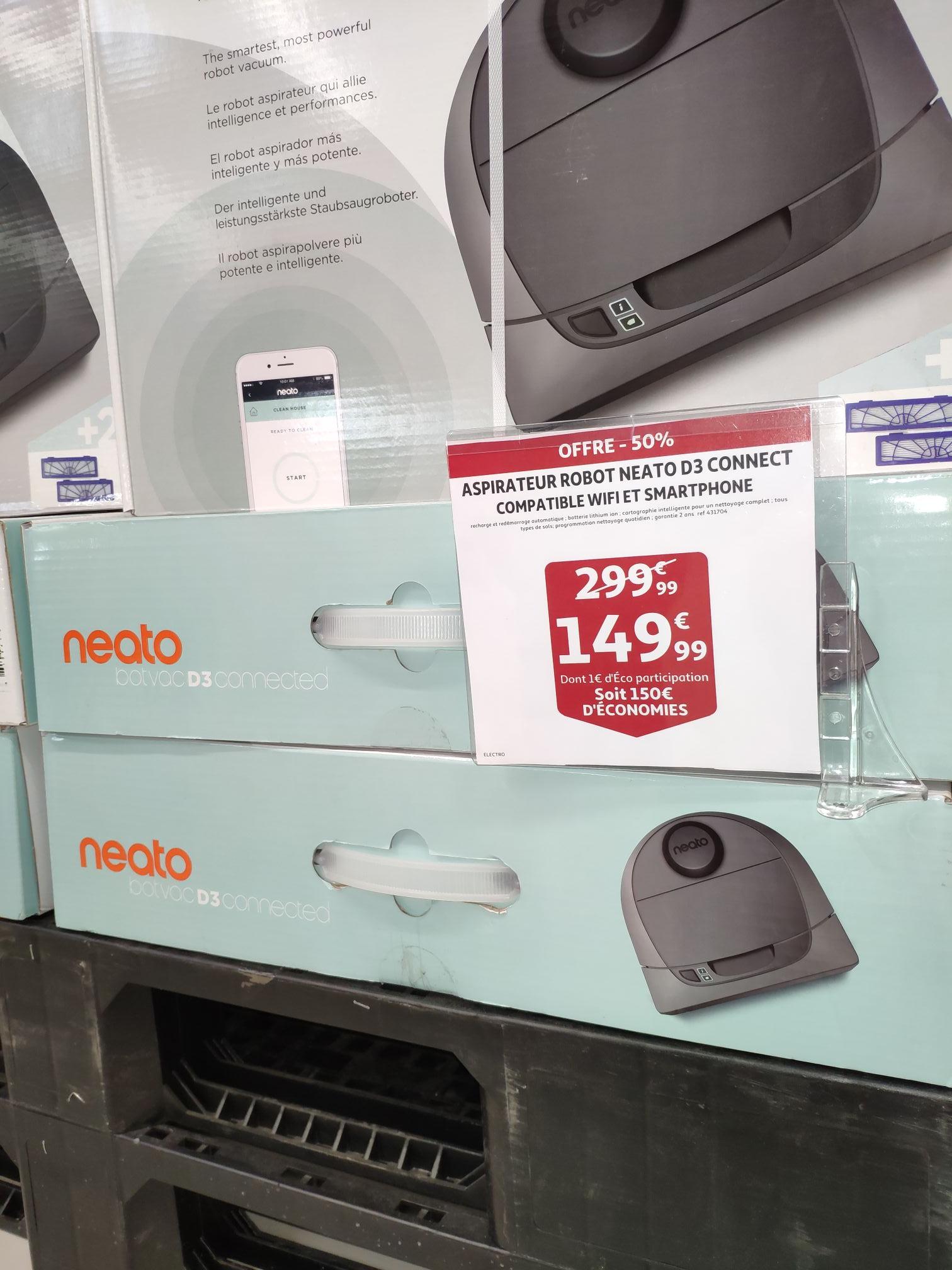 Aspirateur Robot connecté Neato Botvac D3 - Auchan Mont-Saint-Martin (54)