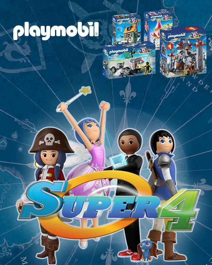 10€ de réduction dès 50€ d'achat sur les boîtes Playmobil Super4 (via shopmium)