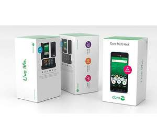 "Pack Smartphone 5"" Doro 8035 - 16 Go, Bleu + étui protège écran (via ODR de 30€)"