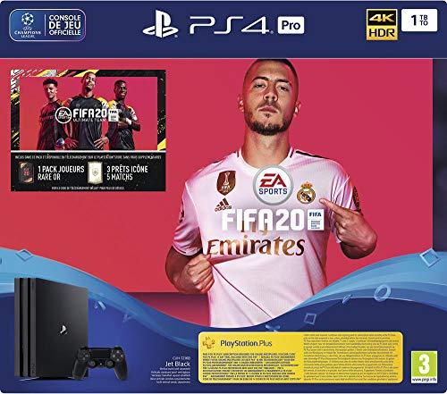 Pack console PS4 Pro (Châssis G) + FIFA 20 + 14 jours d'abonnement PS Plus