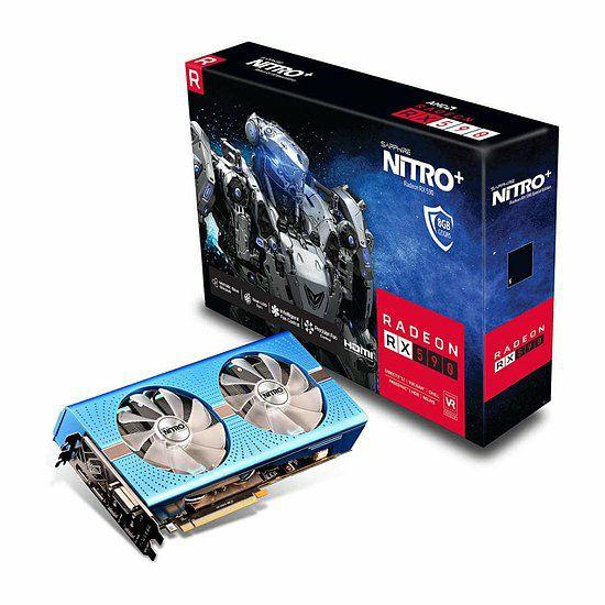 Carte Graphique Sapphire Nitro+ Radeon RX 590 (8Go) + Un jeu au choix et 3 mois de Xbox Game Pass offerts