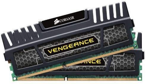 Kit mémoire RAM Corsair Vengeance (CMZ16GX3M2A1600C9) 16 Go (2x8GB) - DDR3, 1600 MHz, CL9, XMP