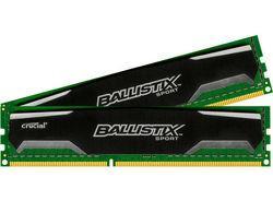 Kit mémoire Crucial Ballistix Sport 8 Go (2 x 4 Go) - PC12800, 1600MHz, CL9