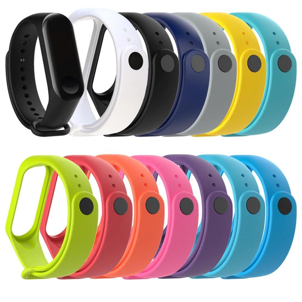Bracelet silicone pour Xiaomi Mi Band 3 ou 4 (13 coloris au choix)