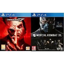 Tekken 7 + Mortal Kombat XL sur PS4 (+1,5€ en SuperPoints)