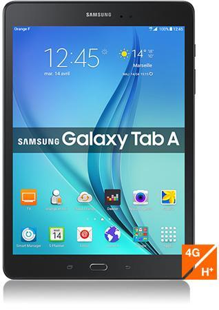 """Tablette 9.7"""" Samsung Galaxy Tab A WiFi/4G (avec un forfait sans engagement à 9,99€)"""