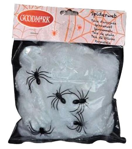 Décoration Halloween - Toile d'araignée avec 5 Araignées