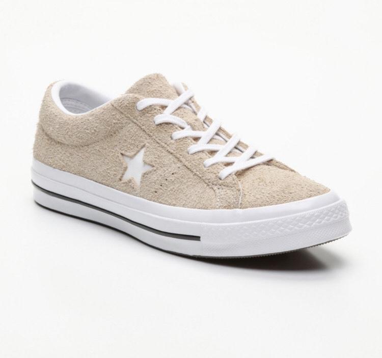 Sélection de baskets Converse en promotion - Ex: Converse One Star Six en cuir beige (Tailles 42 au 45)