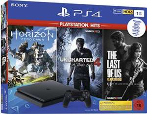 Pack console Sony PlayStation 4 Slim (1To) + Uncharted 4, The Last of Us, Horizon Zero Dawn