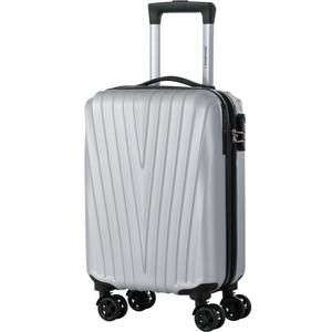 Valise trolley Travel World Low Cost - 50cm, Argent