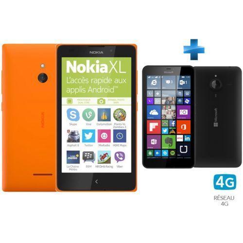 Lot de 2 Smartphones Nokia : Lumia 640 XL (double sim) + Nokia XL (via ODR 50€)