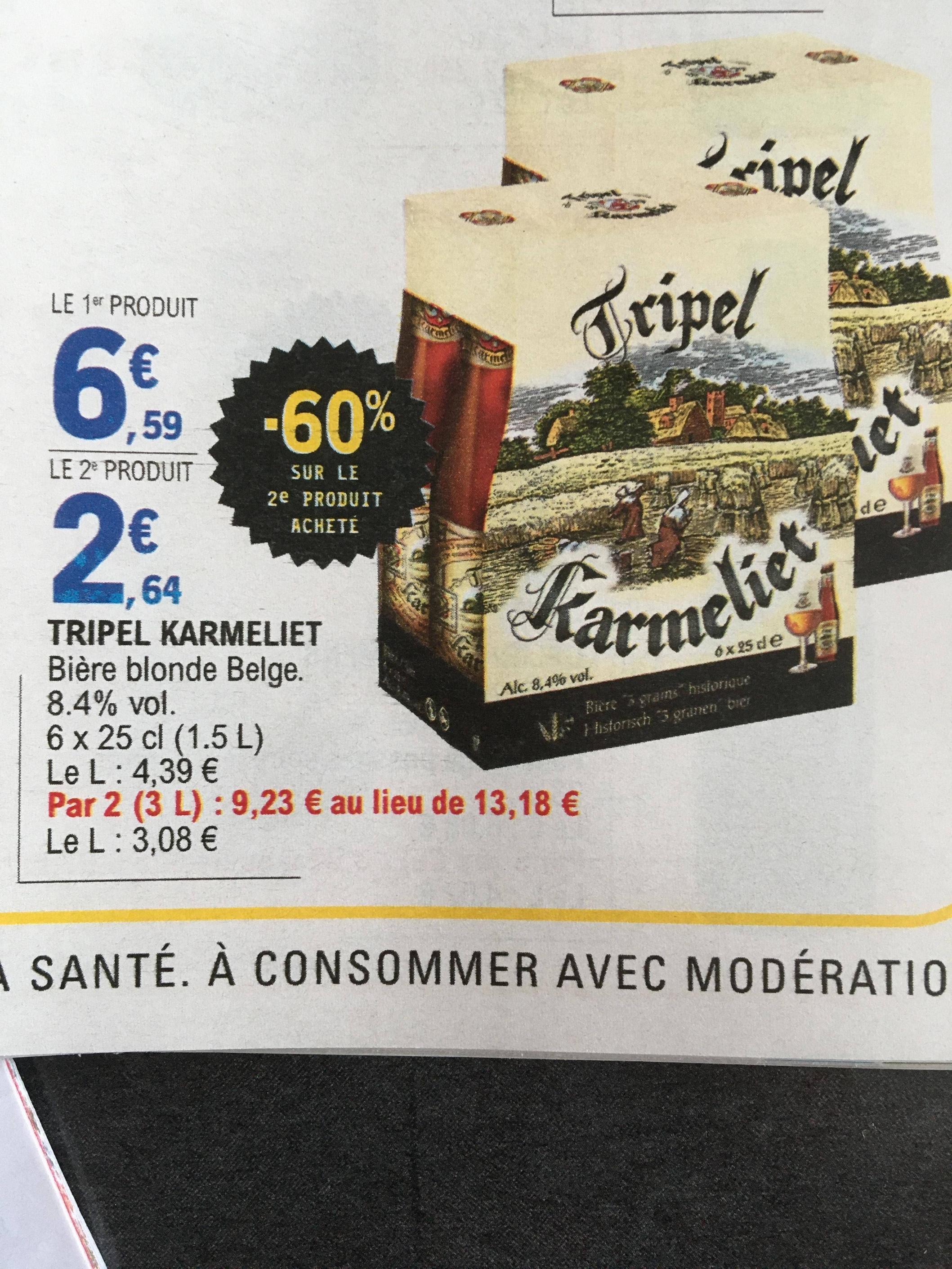 2 packs de Bières Tripel Karmeliet - 12 x 25Cl à 9.23€ ou 3 Bouteilles de 75Cl pour 9.4€