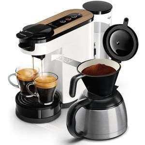 Machine à café dosette ou filtre Philips Senseo Switch HD6591/21- Verseuse isotherme 1 L (Via ODR de 30€ dont 50% sur l'achat de café)