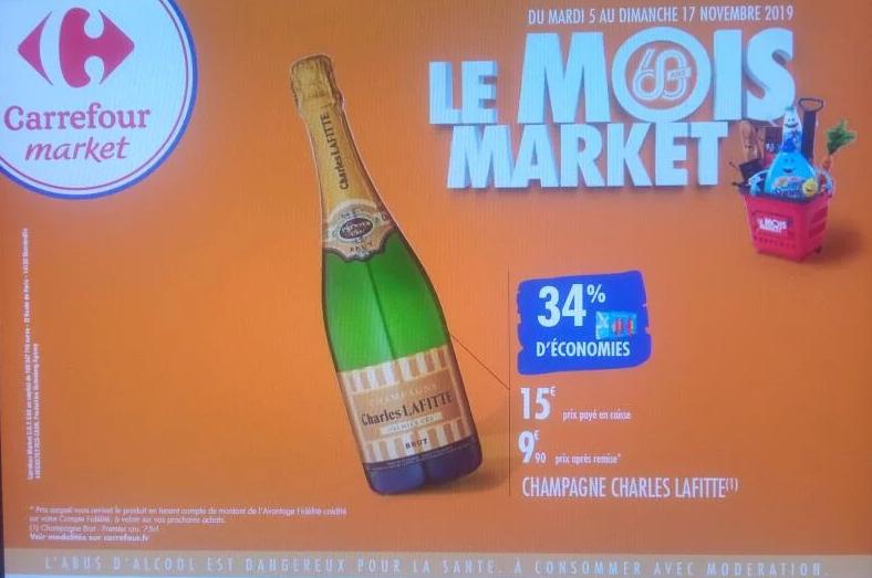 Bouteille de Champagne Charles Lafitte (via 5.1€ sur la carte)