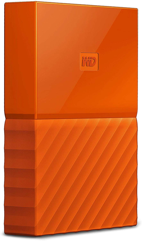 "Disque dur externe portable 2.5"" WD My Passport 1To USB 3.0 - Orange"