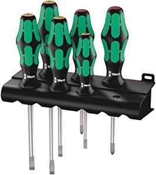 Jeu de tournevis Wera Kraftform Plus Lasertip avec Rack - 6 pièces