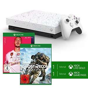 Console Microsoft Xbox One X (1 To) Edition Hyperespace + Tom Clancy's GhostRecon Breakpoint + FIFA 20 + 1 mois Xbox Live & 1 mois Game Pass