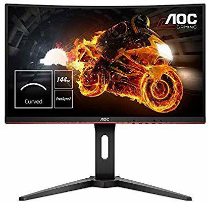 Ecran PC 24'' Gamer AOC C24G1 - Full HD, 144Hz, 1ms, FreeSync