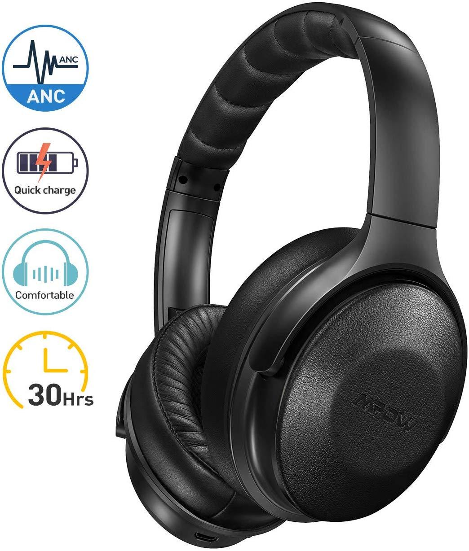 Casque Bluetooth Mpow H17 - Réduction de Bruit Active ANC, Autonomie 30h, Deep Bass, Micro CVC 6.0 (Vendeur tiers)