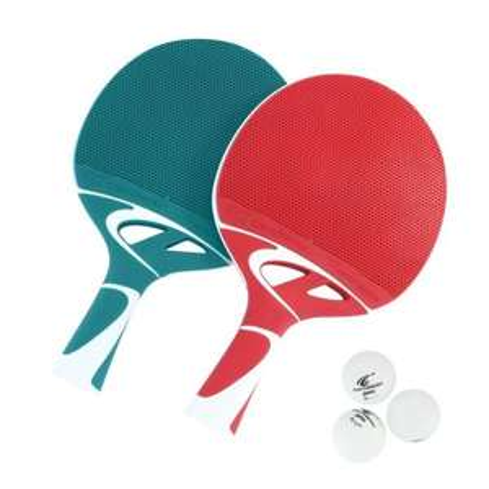 Pack de 2 Raquette de tennis de table Cornilleau Tacteo Pack Duo + 3 Balles