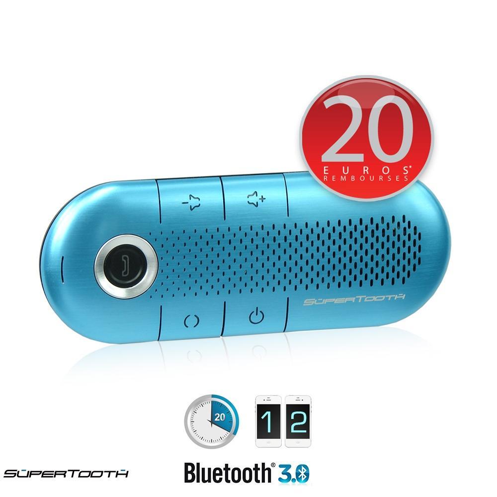 Kit bluetooth 3.0 Supertooth Crystal bleu - AD2P - veille 1000 h  (via ODR 20€)