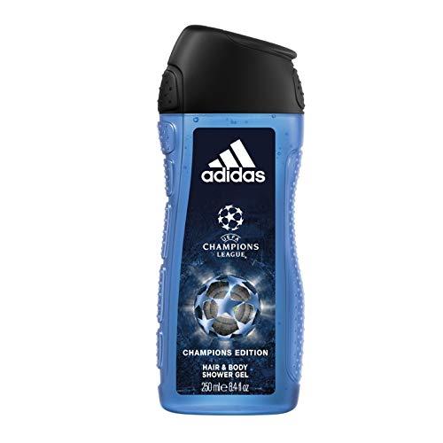 Lot de 4 Gels douche Adidas 3-en-1 UEFA Champions Edition - 4 x 250ML