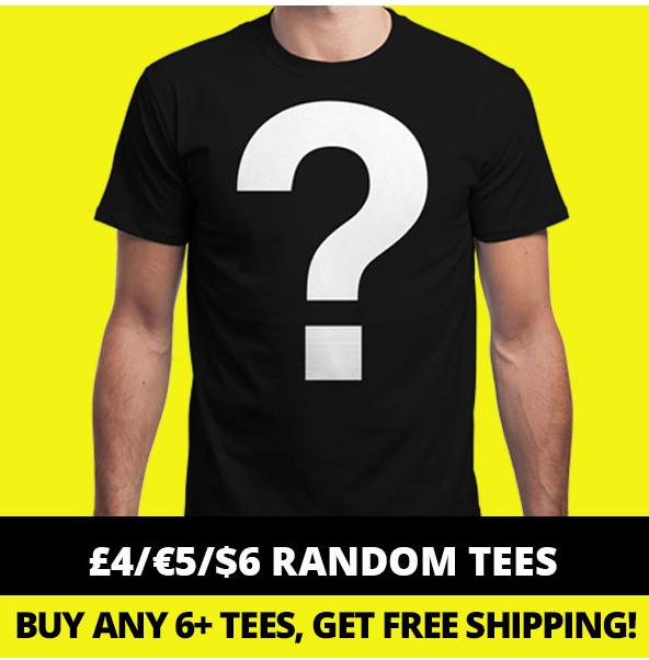 T-Shirt à motif aléatoire (parmi 1000 designs)