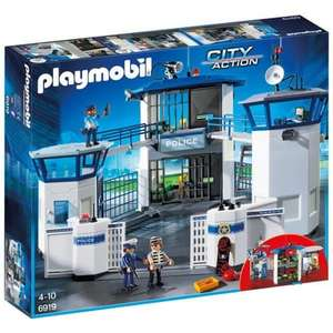 Jeu de construction Playmobil City Action - Commissariat de Police avec Prison (6919)