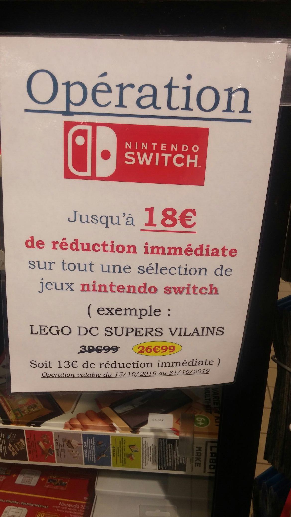 Jusqu'à 18€ de réduction sur une sélection de jeux Switch - Grasse (06)