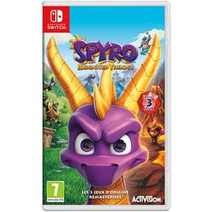 Spyro Reignited Trilogy sur Switch, PS4 et Xbox One + Figurine Cable Guy