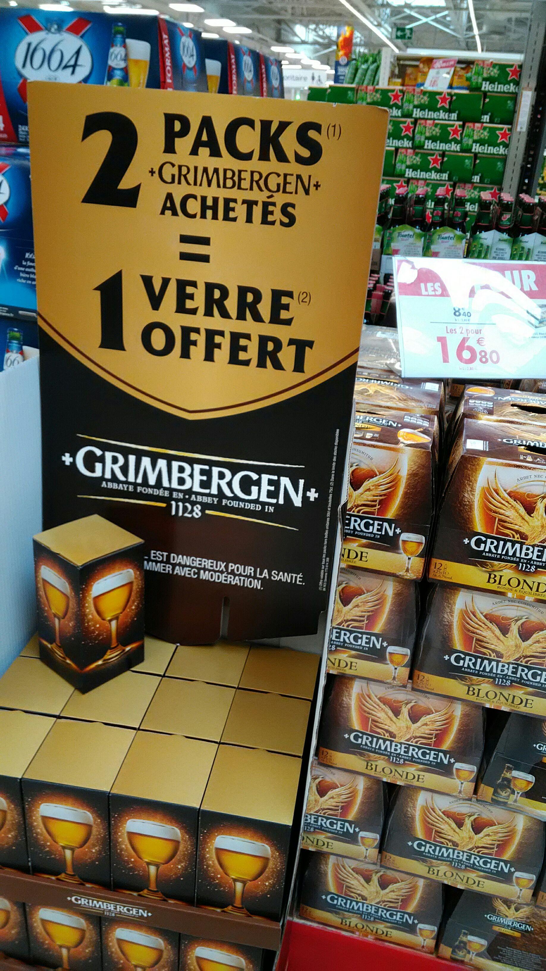 2 packs de bières Grimbergen achetés = 1 verre à bière offert - Marzy (58)