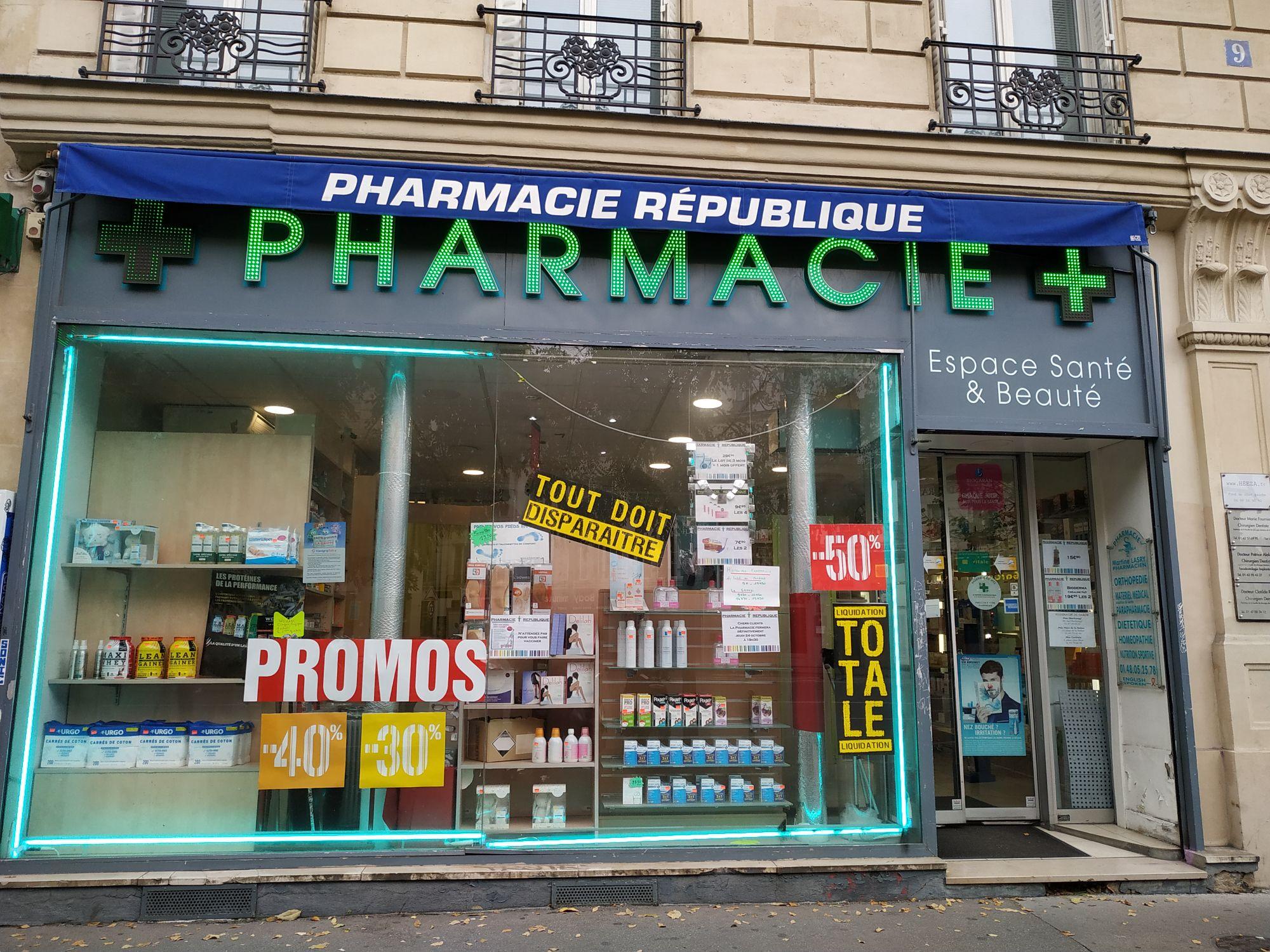 Jusqu'à 50% de réduction - Pharmacie République (75)