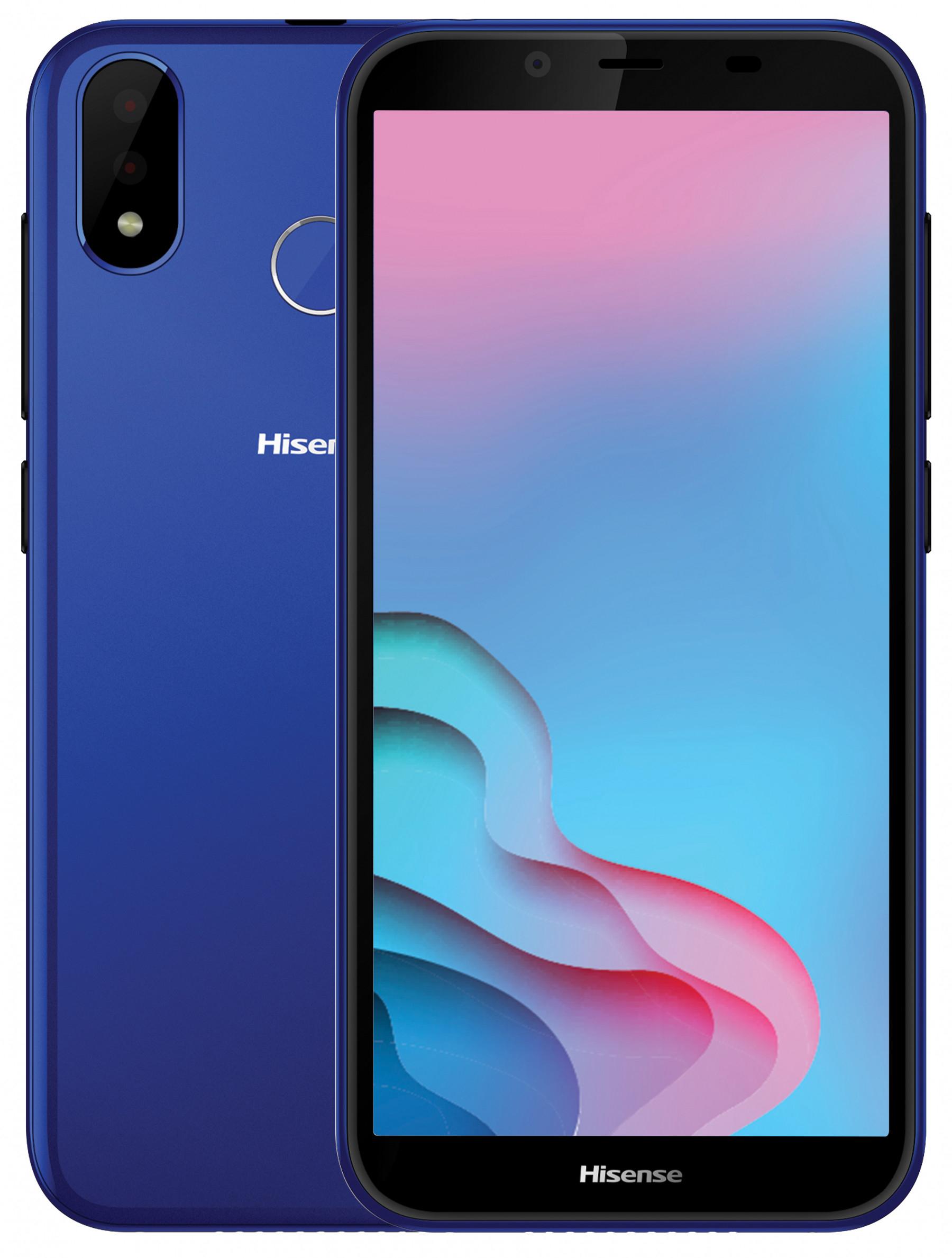 "Smartphone 5.7"" Hisense Infinity E9 - HD+, MT6739, RAM 2 Go, 16 Go, 13+2 MP, Capteur d'empreintes, Face Unlock (Bleu ou Or) - Via ODR de 40€"