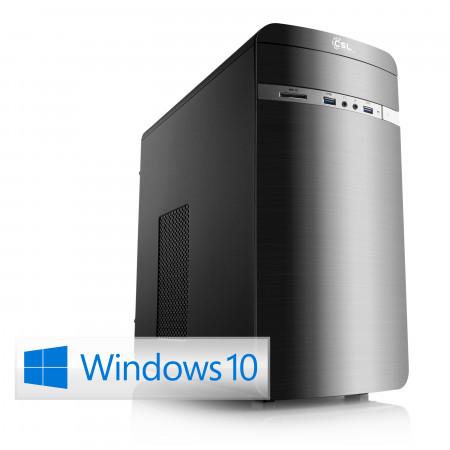 Tour PC CSL Sprint X5821 - Ryzen 3 2200G, HDD 1 To + SSD 240 Go, Radeon Vega 8, Windows 10