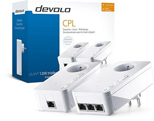 Pack de 2 CPL Devolo 9908 dLAN 1200 Triple+