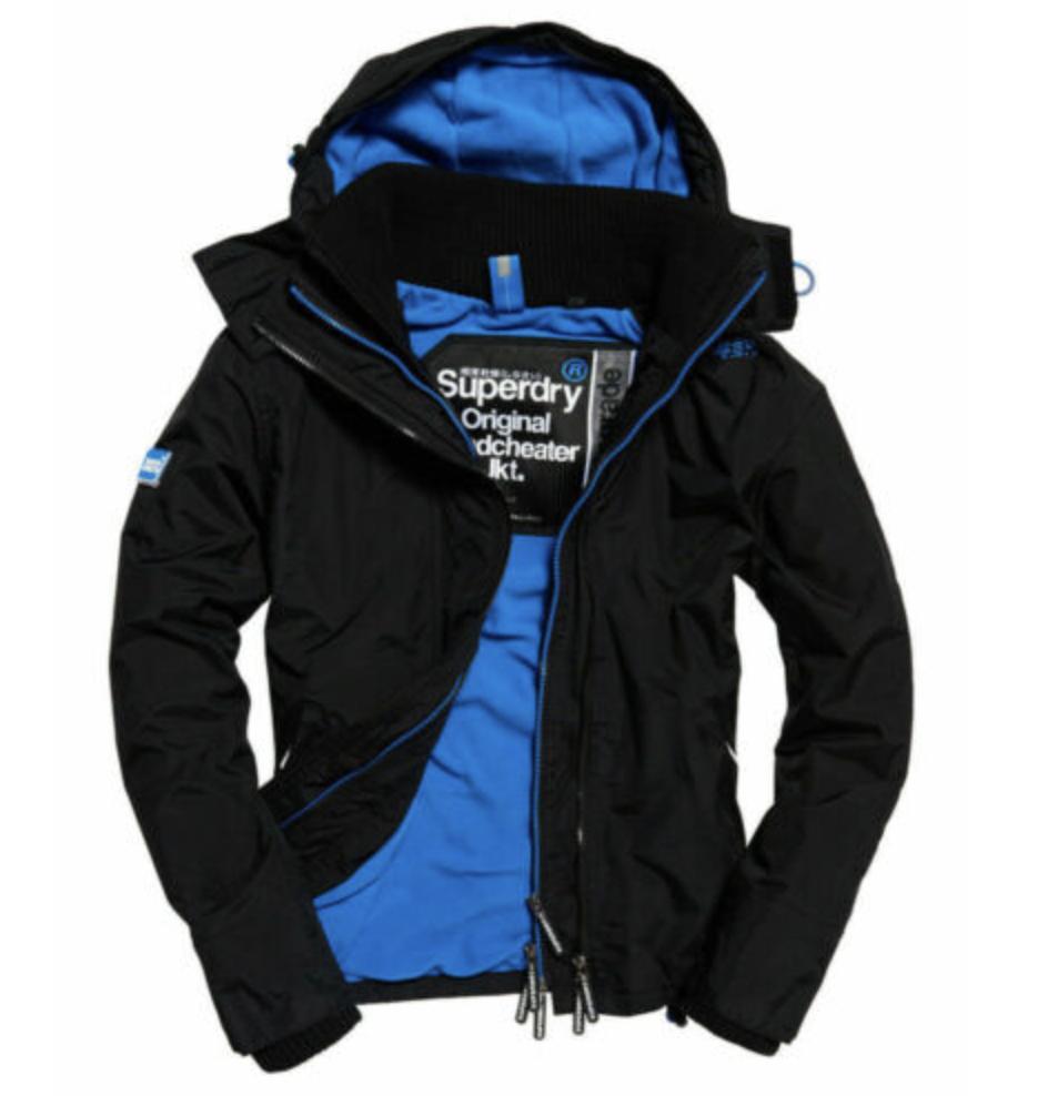 Manteau Superdry Pop Zip pour Homme à Capuche Arctic SD - Taille S