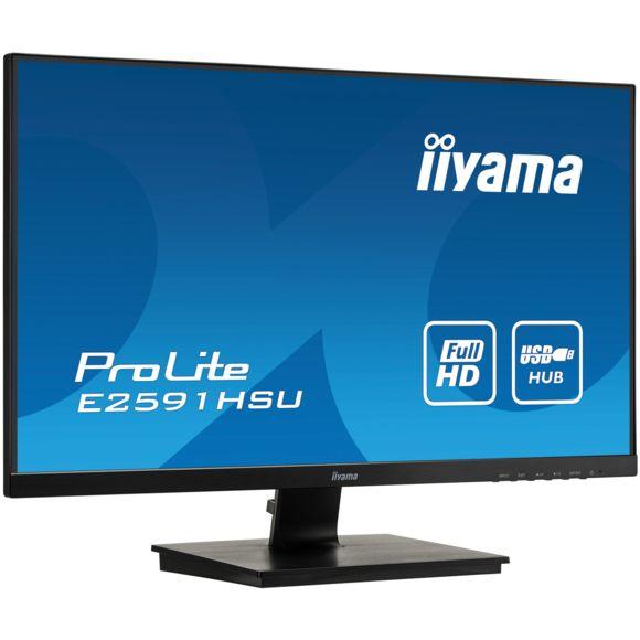 "Écran PC 24.5"" Iiyama ProLite E2591HSU-B1 - Full HD, Dalle TN, 75Hz, 1ms, FreeSync"