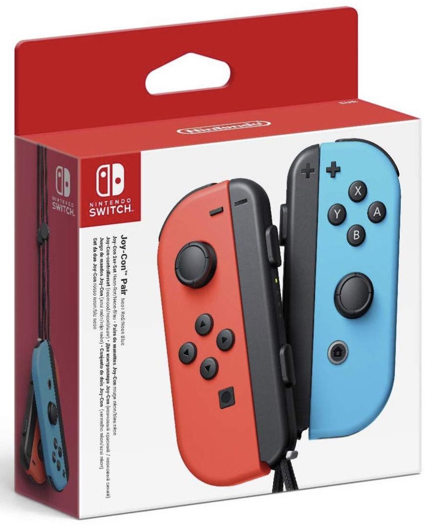 Paire de Manettes Joy-Con Bleu / Rouge Néon pour Consoles Nintendo Switch