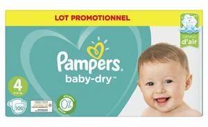 Lot promotionnel de Couches ou Culottes Pampers Baby Dry - Tailles au choix (Via 21,70 € Carte de Fidélité + BDR)