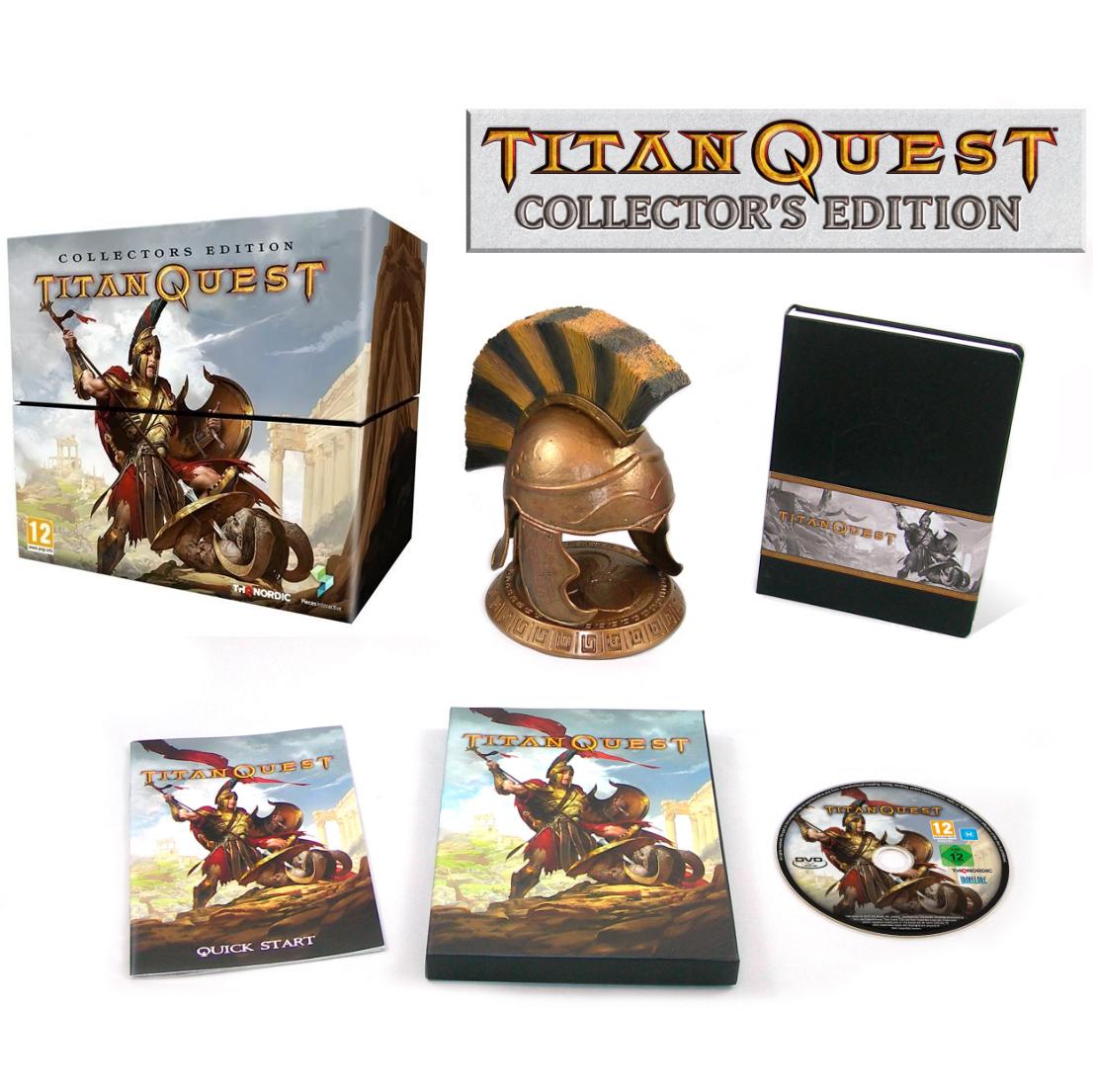 Titan Quest Edition Collector: Le Jeu + L'extension Immortal Throne + Réplique d'un casque + Carnet de Note sur PC