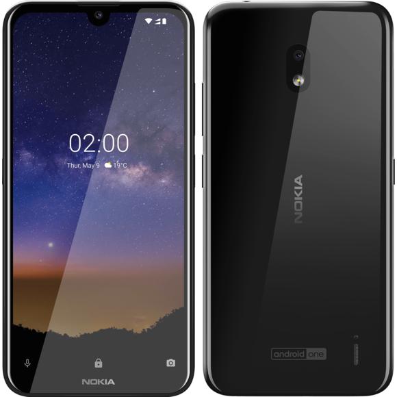 Smartphone 5,71'' Nokia 2.2 - HD+, 2 Go de RAM, 16 Go de ROM, Noir (ODR de 20€)