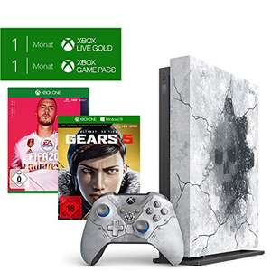 Pack Console Microsoft Xbox One X 1 To + Bundle Gears 5 Edition Limitée + FIFA 20 Standard Edition + 1 mois d'essai au Xbox Live Gold