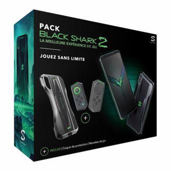 "[Adhérent] Pack Smartphone 6.39"" Xiaomi Blackshark (8 Go de Ram, 128 Go) + Coque de protection + Manettes de jeu + Support Gamepad"