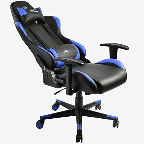Chaise gaming de bureau Umi. by Amazon - Bleu (vendeur tiers)