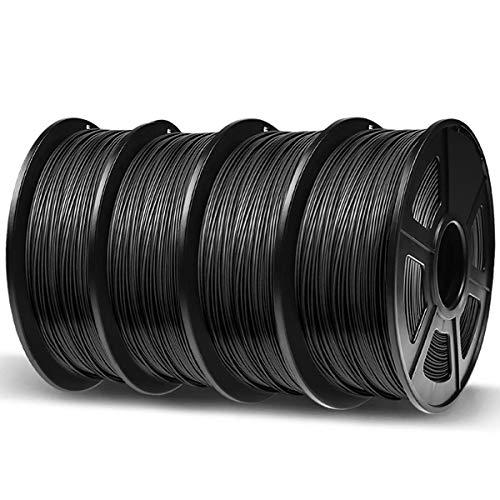 4 bobines de Filament imprimante 3D Enotepad PLA - 1.75mm, 4x1kg, noir (vendeur tiers)
