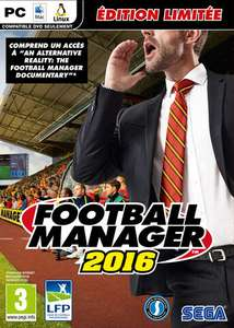 "Football Manager 2016 Edition Limitée - Inclut le documentaire ""An alternative reality : The football manager documentary"" sur PC"